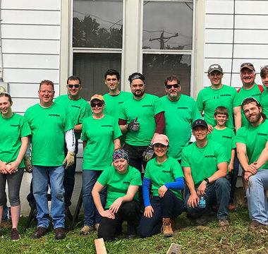 Associates participate in community service